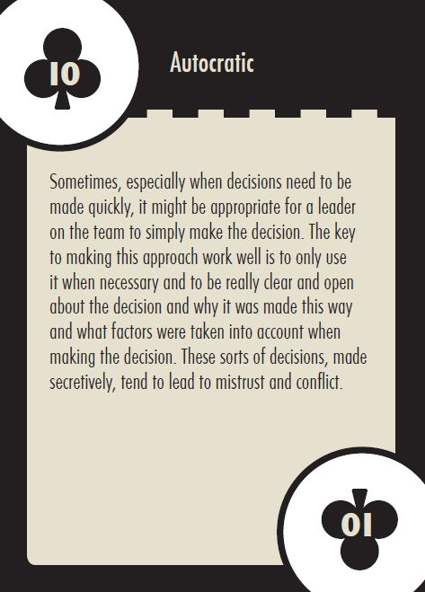 Autocratic Decision Making
