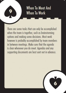 When to Meet, When to Work